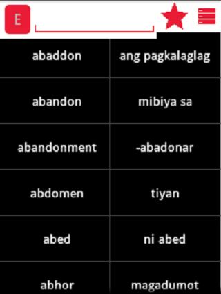English Cebuano Dictionary