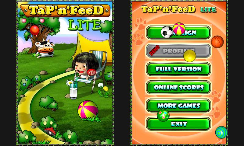 Tap'n'Feed Lite- screenshot