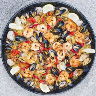Grilled Seafood & Vegetable Paella
