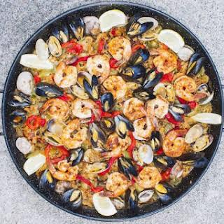Grilled Seafood & Vegetable Paella.