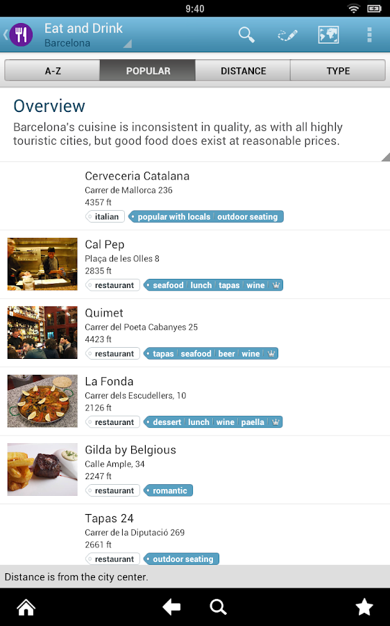 Barcelona Travel Guide Triposo - screenshot