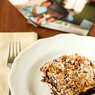 Chocolate Cake with Cream Cheese Filling & Walnut-Sugar Topping Recipe