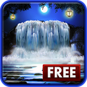 3D Night Waterfall LWP FREE icon