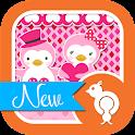 Cute Love Penguin Theme icon