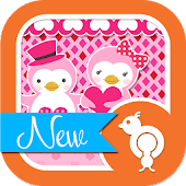 Cute Love Penguin Theme