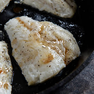 Brown Butter Tilapia with Basil Butter Breadcrumbs.