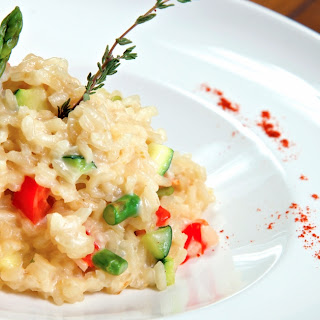 Slow Cooker Sundried Tomato Risotto.