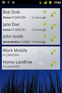 Call + SMS Log Widget - screenshot thumbnail