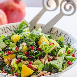 Winter Fruit Kale Salad with Orange Ginger Dressing