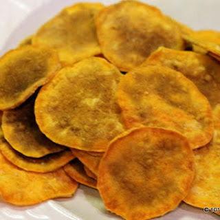Microwave Sweet Potato Chips.