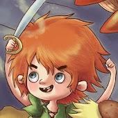 Peter Pan en kapitein Haak