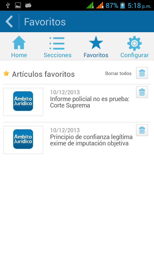 AmbitoJuridico.com- screenshot