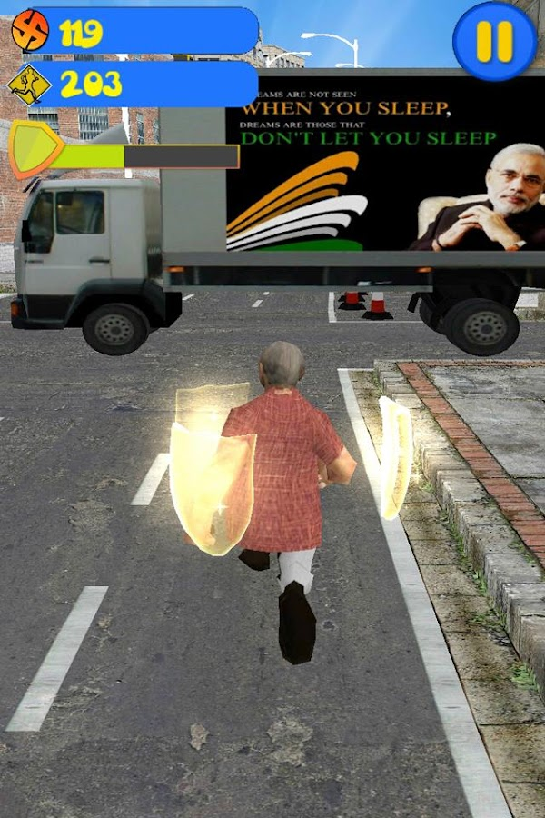 Modi 3D Run- screenshot
