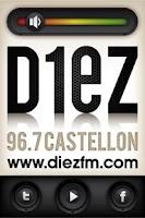 Screenshot of Diez FM