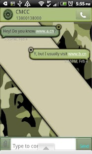 GO SMS THEME/CamouflageCamo- screenshot thumbnail
