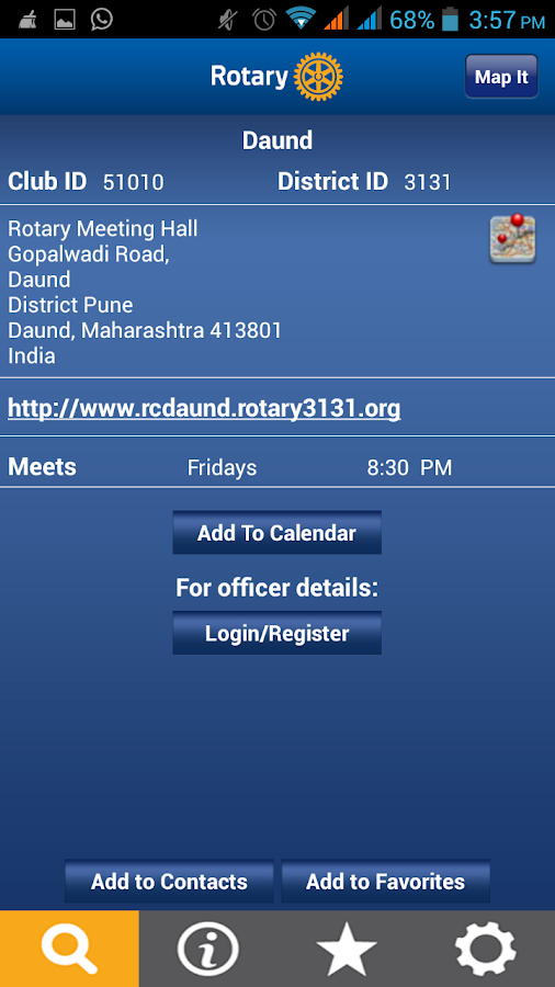 Rotary Club Locator. - screenshot