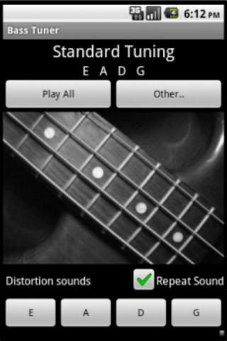 Tuner and metronome- screenshot
