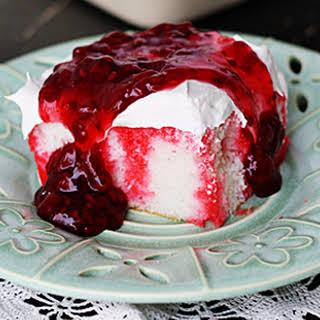 Raspberry Dream Poke Cake.