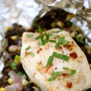Halibut with Chipotle Compound Butter in Foil Packets Recipe