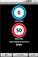 Screenshot of SpeedCam Detector Europe