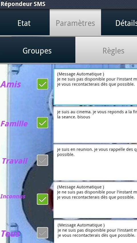 Repondeur SMS - screenshot