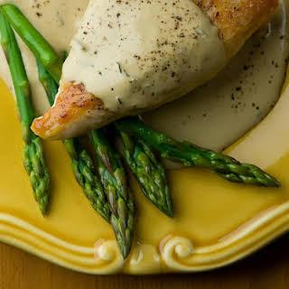 Chicken with Mustard Wine Cream Sauce.