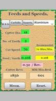 Screenshot of workshop calculator