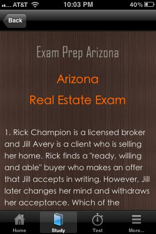 Arizona Real Estate Exam Prep- screenshot