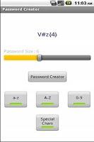 Screenshot of Password Creator