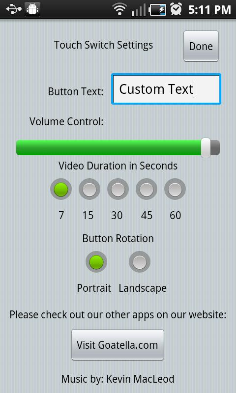 iSpeak Button- screenshot
