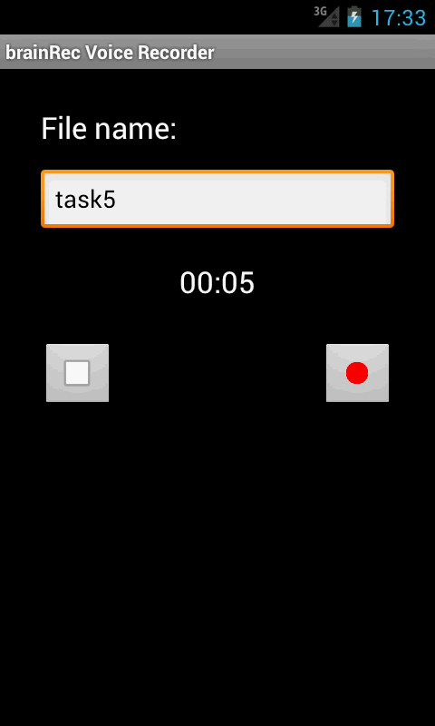 brainRec Voice Recorder- screenshot