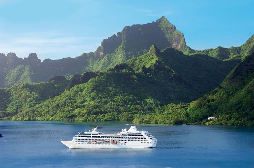 Pacific-Princess-in-BoraBora - Small ship, big visual treats: Pacific Princess gives guests an exotic experience through the lavish isles of Bora Bora.