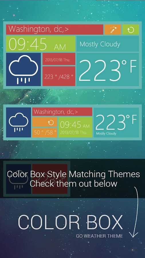 ColorBox GO Locker Theme - screenshot