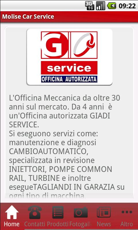 Molise Car Service - screenshot