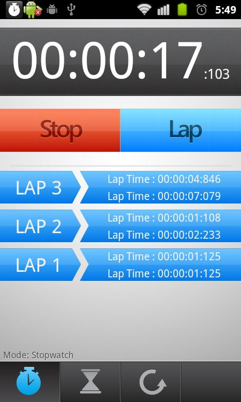 Stopwatch and Trainer - screenshot