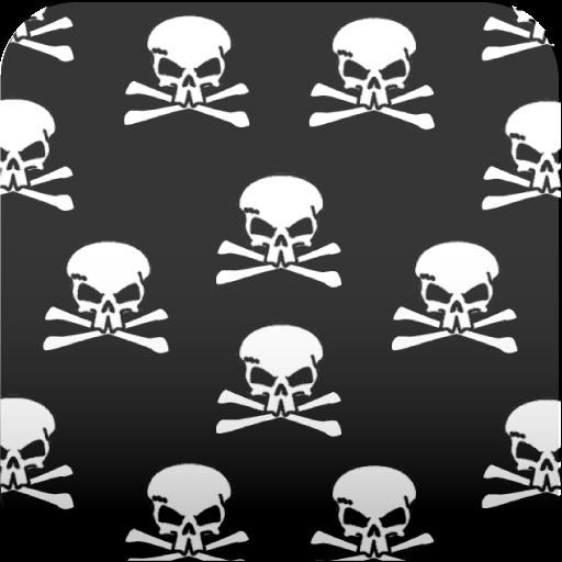 骷髅头的黑色壁纸 個人化 App LOGO-硬是要APP