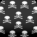 skull wallpaper black icon