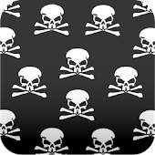 skull wallpaper black