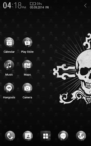 玩個人化App|ブラックスカル アトム テーマ免費|APP試玩