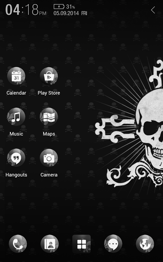 Black Skull Atom Theme- screenshot