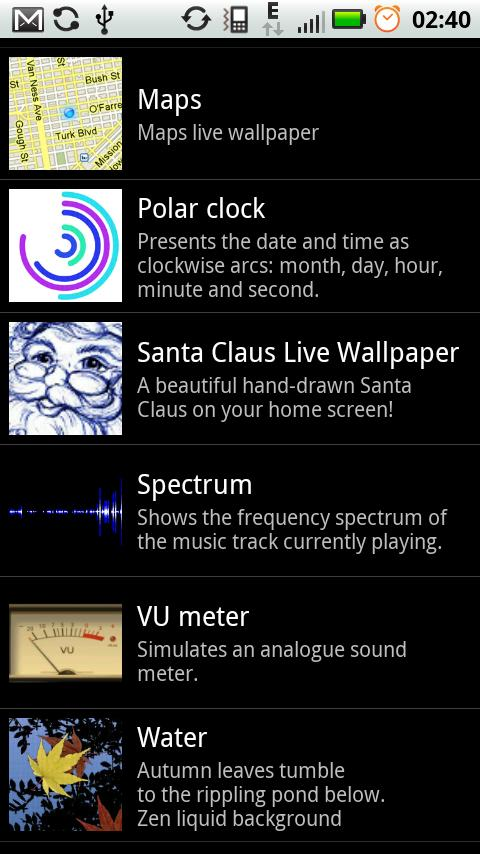 Santa Claus Live Wallpaper- screenshot