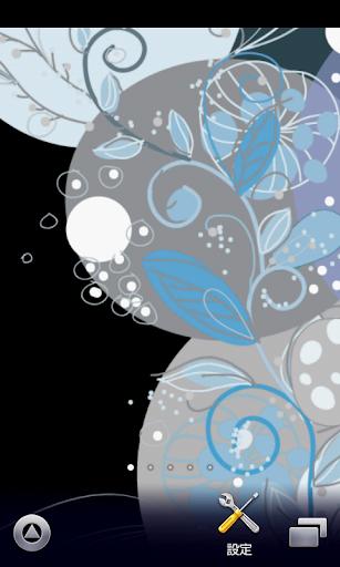 抽象的な花模様♪【スマホ待ち受け壁紙】ver231