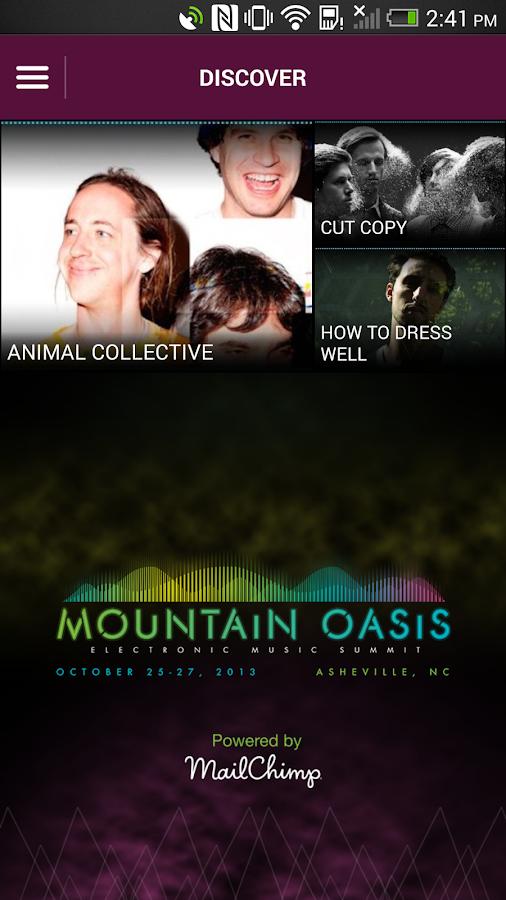Mountain Oasis Music Summit - screenshot