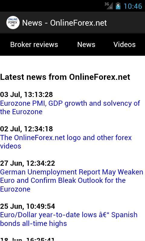 OnlineForex.net: Forex Trading - screenshot