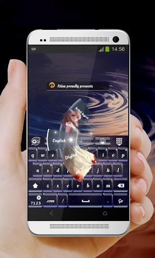 精靈女孩 GO Keyboard Theme