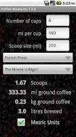Screenshot of Coffee Measures