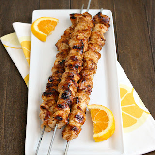 Orange Teriyaki Chicken Kebabs.