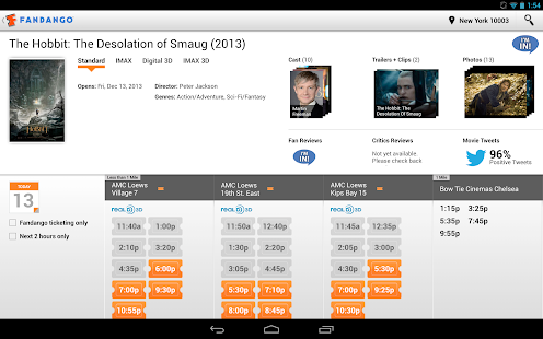 Fandango Movies for Tablets - screenshot thumbnail