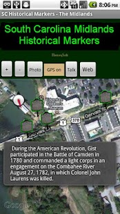 SC Midlands Historical Markers- screenshot thumbnail