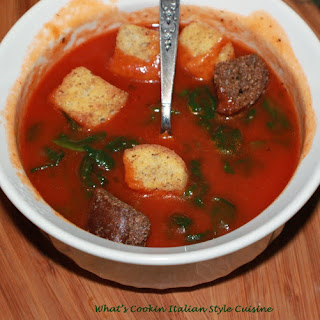 Tomato Basil Spinach Soup
